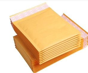 China Customized Printed Kraft Bubble Mailer 110*190 With Water Resistance on sale