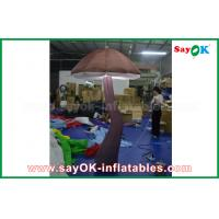 Vivid Brown Inflatable Mushroom with LED light Inside for Show Decoration