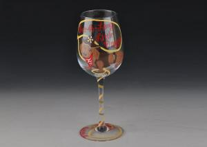 China Beautiful crystal wine glasses Hand Painting Red Wine Glass Cup personalized on sale