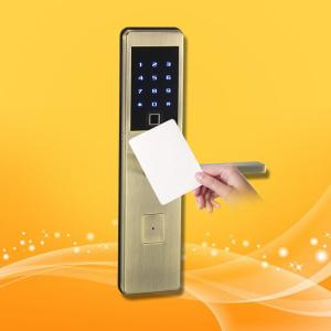 China Semiconductor Electronic Card Door Lock Tempered Glass Touch Screen For Office on sale