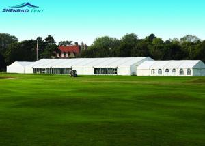 China A Shaped Aluminum Structure Event Marquee Tent With PVC / ABS / Glass Side Wall on sale