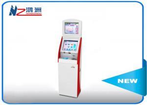 China Dual Screen Free standing self service kiosk 500cd/m2 Brightness on sale