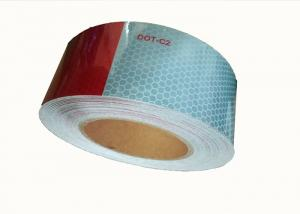 China Exterior Auto 2 Inch Safety Reflective Tape For Trailers  Pressure Sensitive on sale