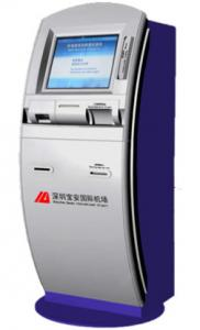 China 32 Inch Full HD Self Check In Kiosk Airport With Passport Reader / Scanner on sale