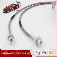 China SAE J1401 standard stainless steel braided flexible metal brake hose line on sale