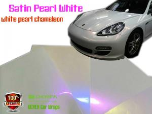 China Satin Pearl White Car Wrapping Vinyl Film - different models on sale