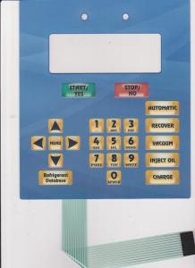 China Control Board Flexible Custom Membrane Switch Overlay With Digital Printing on sale