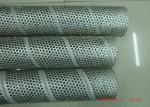 Stainless Steel Perforated Spiral Welded Pipe / Punched Metal Pipe For Filter Tubes
