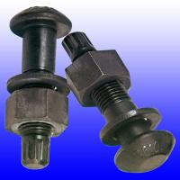 High Precision DIN 933 Carbon Steel Bolts , Hot Dipped Black Zinc Plated Bolts