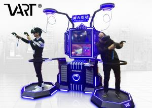China VART Magic Interactive Double Players Standing VR Simulator For Game Center on sale
