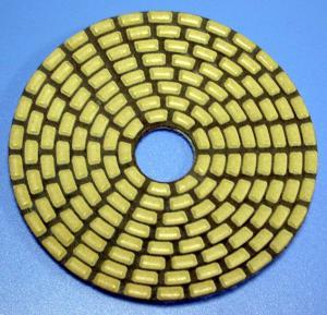 China Los cojines secos o mojados para el piso del mármol o del granito de los altos 4 eficientes avanzan lentamente el tampón para pulir de la esponja del diamante de 100 milímetros on sale