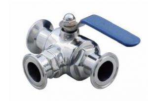 China DN15-DN150 Stainless Steel Sanitary Fittings Clamp tee type ball valve on sale