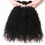 No Shedding Natural Peruvian Human Hair Weave For Undyed Black Extensions