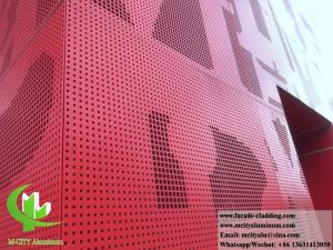 China Decorative perforated sheet metal panels aluminium cladding facade on sale