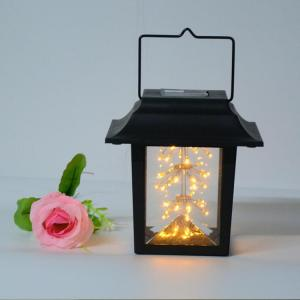 China Outdoor Garden Solar Powered LED Solar Candle Pendant Lamp  Solar Baby's breath Solar Hanging Lights on sale