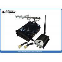 China 90KM LOS Long Range Wireless Video Transmitter 10W Wireless Video Sender CCTV on sale