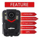 Body Mounted Video Police Worn Cameras With GPS Function New Designed