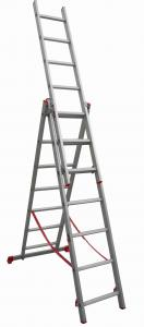 China 3 way Aluminum Ladder / Aluminum Multi purpose Ladder on sale
