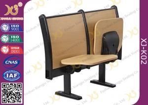 China Cold Roll Steel Book Holder College Classroom Furniture With Writing Desk on sale