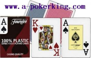 China Fournier 100% Plastic Marked Cards on sale