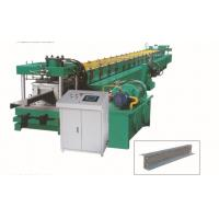 Interchangable CZ Purlin Roll Forming Machine , Metal Stud Roll Former Various Sizes