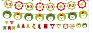China Compare cheap custom made Christmas string bunting flag banner on sale
