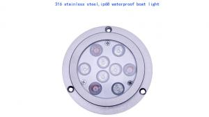 China Stainless Steel ip68 Underwater Boat Light Blue RGBW White Color for marine on sale