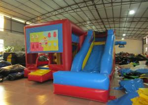 China Classic inflatable combo for sale PVC inflatable jumping house with slide inflatable football sport game multi-play jump on sale