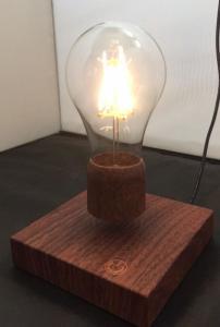 China wooden base magnetic floating levitate led bulb lamp on sale