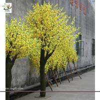 UVG CHR025 indoor garden decoration artificial blossom yellow cherry tree 10ft high
