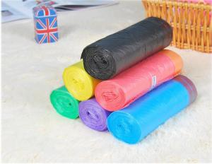 China HDPE Packaging Home Garbage Bags , Drawstring Trash Can Liners Customized Size on sale