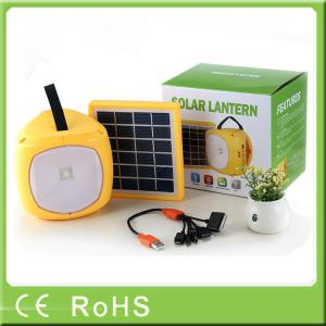 China Wholesale rechargeable led high lumens portable solar light with fm radio on sale