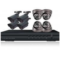 6 Series NTSC / PAL 4ch Real time H.264 DVR Camera Kit With Weatherproof 24 IR LEDs CCTV Dome Camera