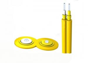 China GJFJV / ZY G652B Indoor FTTH Fiber Optic Cable Two Separate Cores For Aerial / Conduit on sale