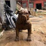Bronze French Bulldog Statue Garden Metal Animal Life Size Home Decoration Modern Art Sculpture