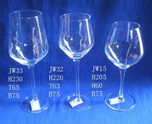 China Wine Goblet Wine Glasses 350ml 470ml 750ml Capacity Hand Made  Lead- Free Cryatal Glass with Customer Logos on sale