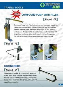 China Compound Pump with Filler Drywall Taping Finishing Tools on sale