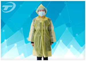 China White PE Plastic Raincoat Disposable  With Food Grade For Children And Adult on sale