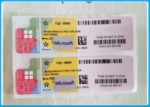 China Original Anti Counter Microsoft Windows 10 Pro Software / Win10 Pro Genuine Oem Key on sale
