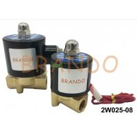 China DN8 2/2 Way 2W025-08 Pneumatic Water Solenoid Valve Brass Body NBR Diaphragm on sale