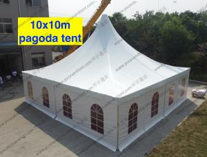 China 10m x 10m Clear Span Tent High Peak Church Windows Multi - Role For World Expo Show on sale