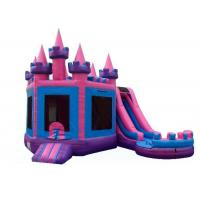 China Indoor Playground Inflatable Castle Bounce House , Princess Combo Bounce House on sale