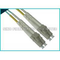 Uniboot LC Fibre Patch Leads , 10G OM3 Duplex Aqua Fiber Patch Cable Multimode