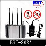 China 3G Cell Phone Signal Jammer Blocker EST-808A , 2100 - 2200MHZ Frequency wholesale
