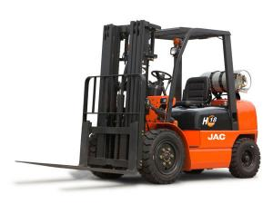 China Comfortable Dual Fuel Gas Forklift Truck , 2 Ton High Reach Forklift Low Pollution on sale