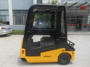 China Electric Towing Tractor/Towing Truck 6 Ton,Full Cabin, With AC CURTIS controller, Beeper And Flash Light on sale