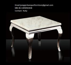 China Marble Tea Table Stainless Steel Frame on sale