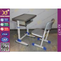 School Furniture Single Student Desk And Chair With Strengthened Station Leg