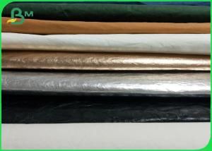 China Golden Black Silver Color Kraft Paper Fabric Washable & Tearproof For Bags on sale