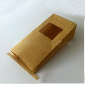 China Bulk Tea Packaging White Kraft Paper Tin Tie Flat Bottom Bags With Clear Window on sale